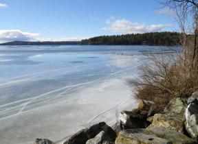 Ice on Lake Auburn