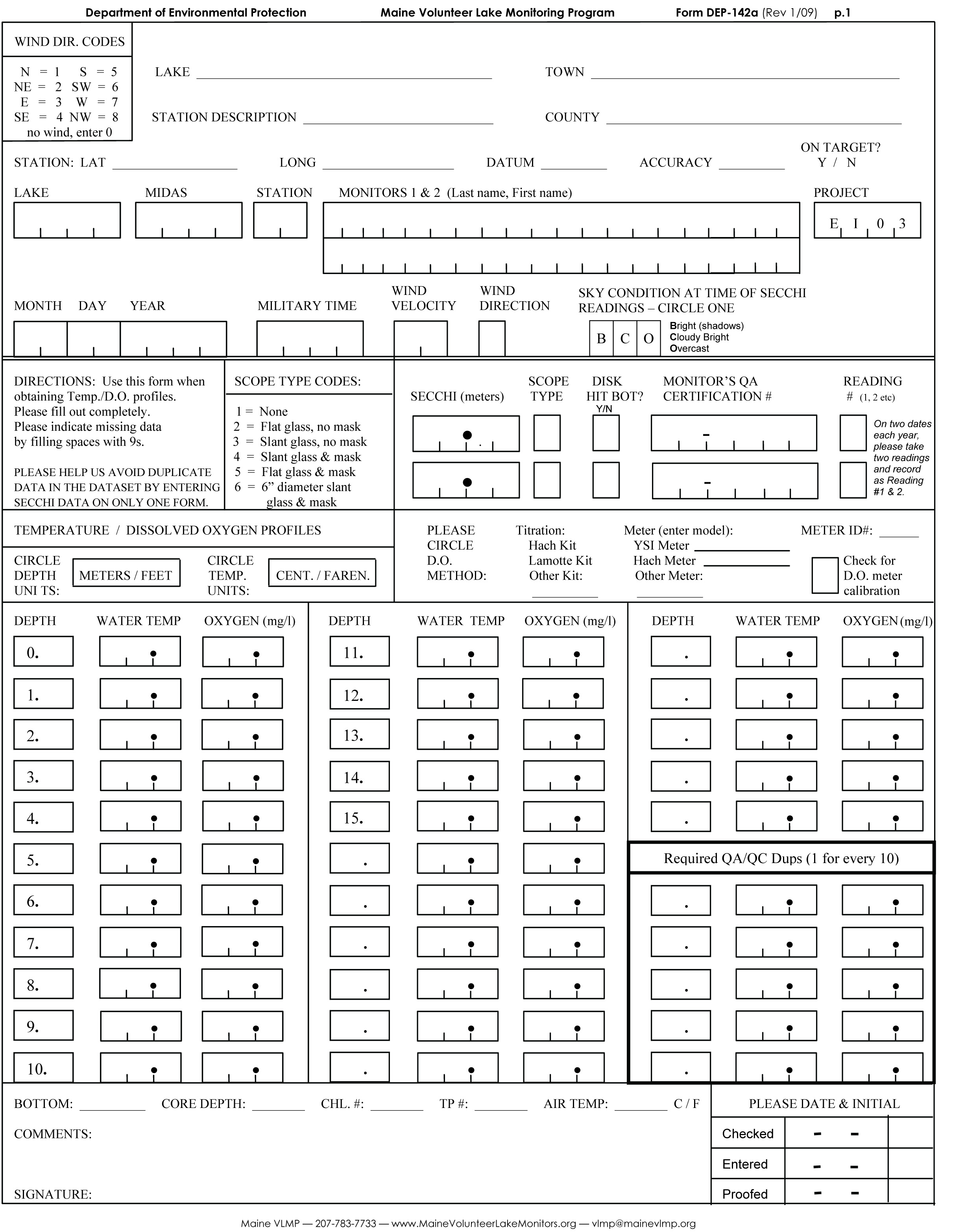 DO Field Sheet